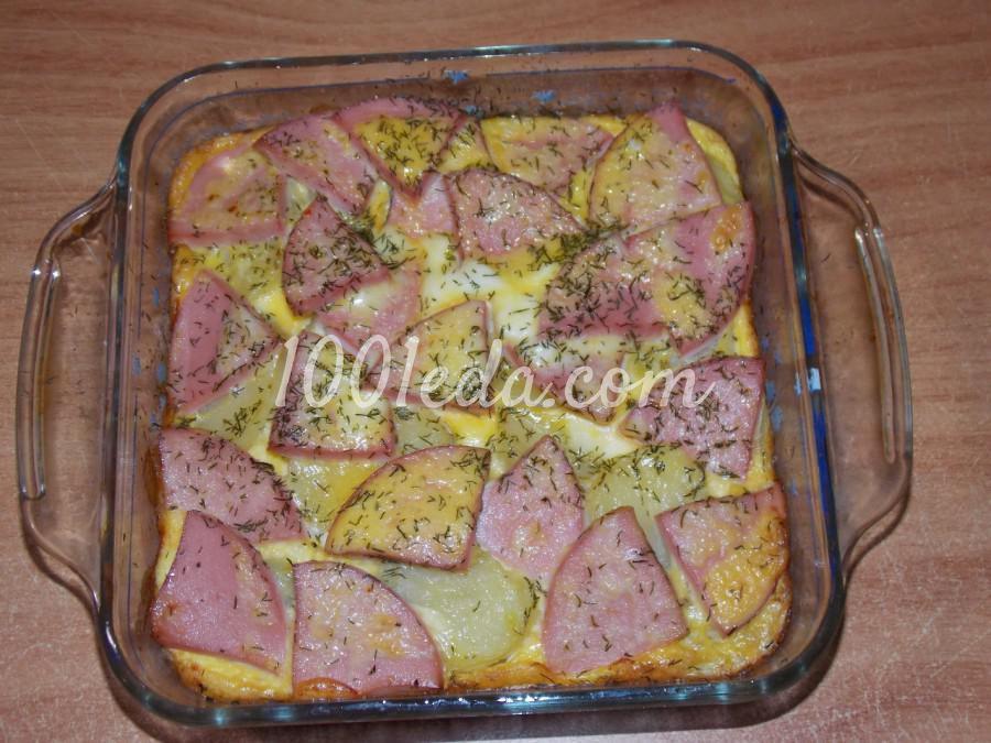 Картошка с майонезом и колбасой в духовке рецепт 4