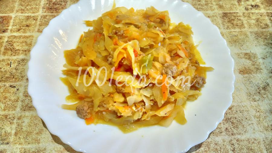 Рецепт капусты тушеной с овощами с пошагово