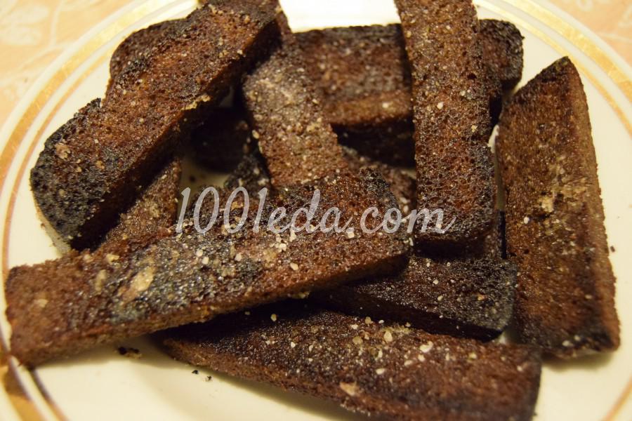 Рецепты гренок из черного хлеба