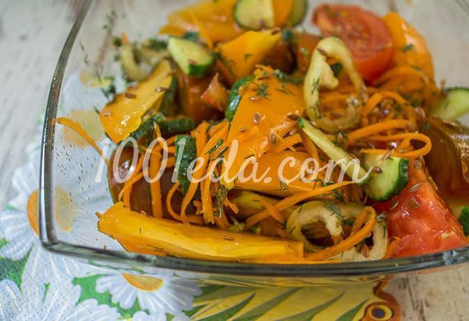 Салат овощной с помидорами Ассорти: пошагово с фото