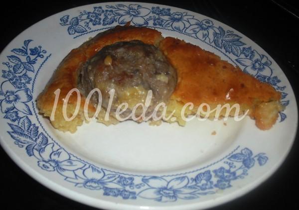 рецепт картофеля с котлетами в духовке в соусе