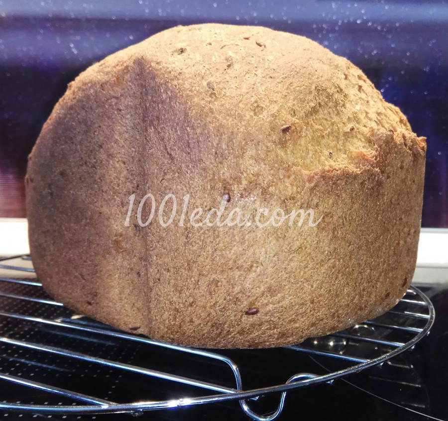Диетический хлеб из цельнозерновой муки с семенами льна в хлебопечке: пошаговый с фото - Шаг №11