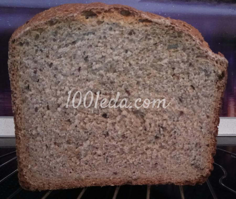 Диетический хлеб из цельнозерновой муки с семенами льна в хлебопечке: пошаговый с фото - Шаг №12