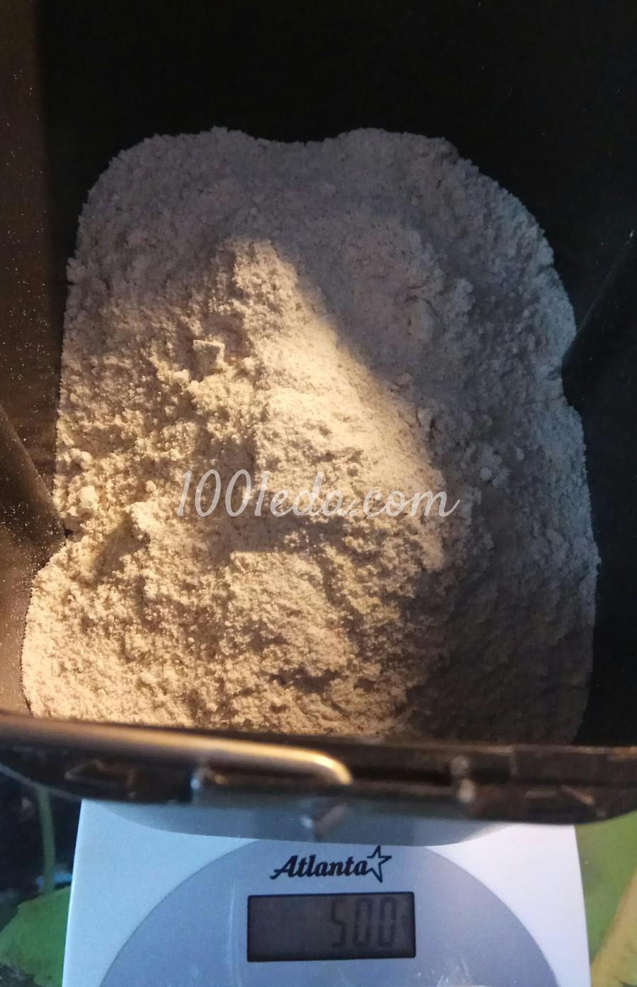 Диетический хлеб из цельнозерновой муки с семенами льна в хлебопечке: пошаговый с фото - Шаг №3