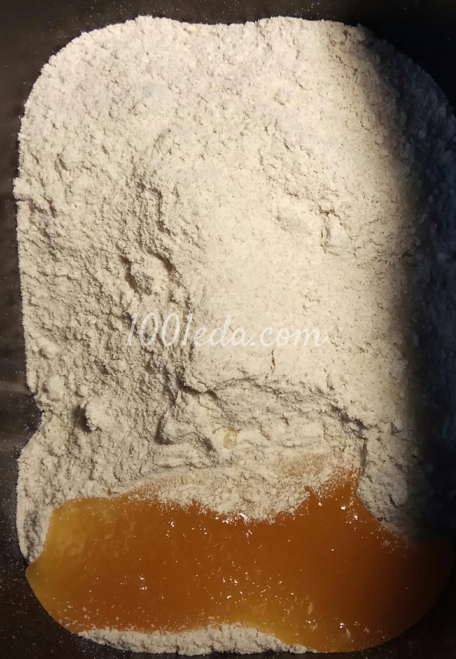Диетический хлеб из цельнозерновой муки с семенами льна в хлебопечке: пошаговый с фото - Шаг №4