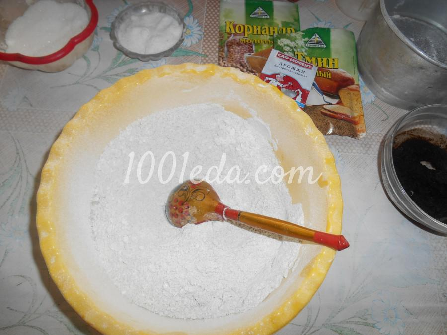 Домашний ржаной хлеб: пошаговое фото - Шаг №3