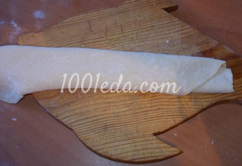 Домашняя толстая лапша с куриными потрошками: рецепт с пошаговым фото - Шаг №7