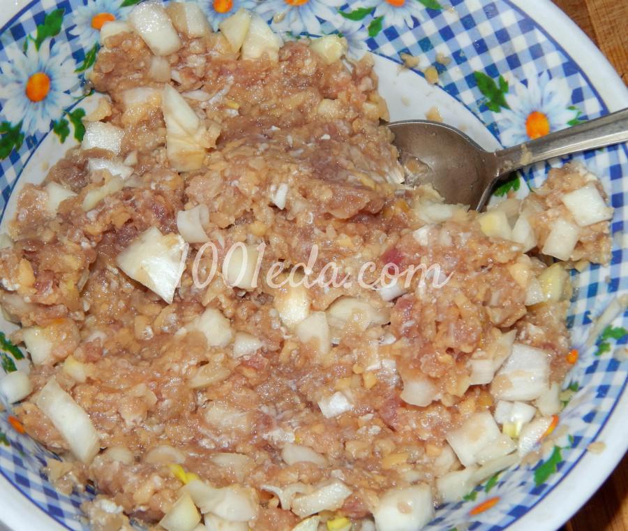 Пирог дрожжевой мясом и картошкой