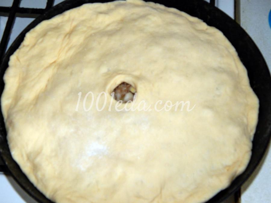 Дрожжевой пирог с мясом и картофелем: рецепт с пошаговым фото - Шаг №6