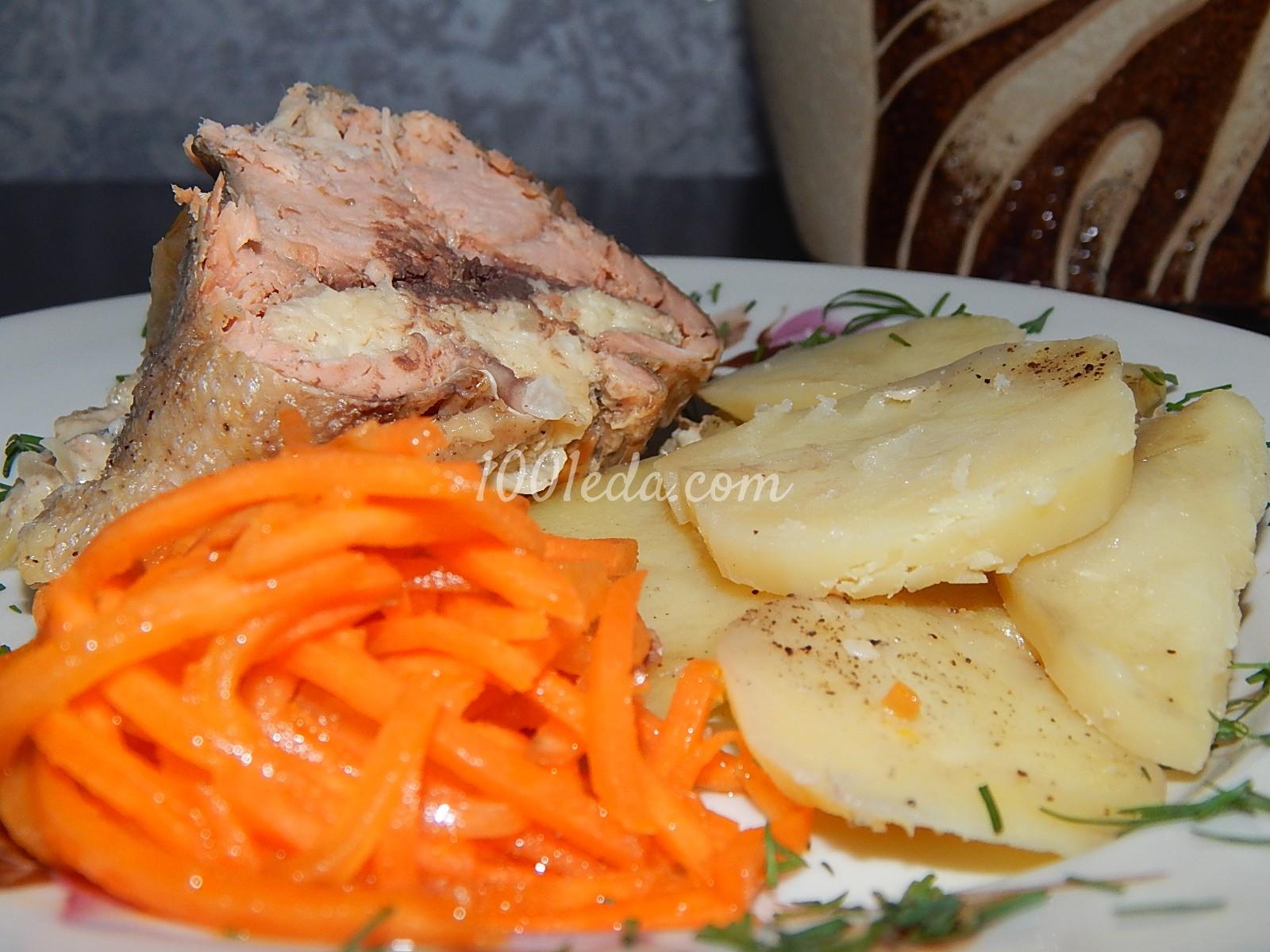 Филе горбуши с картошкой в духовке рецепты пошагово в