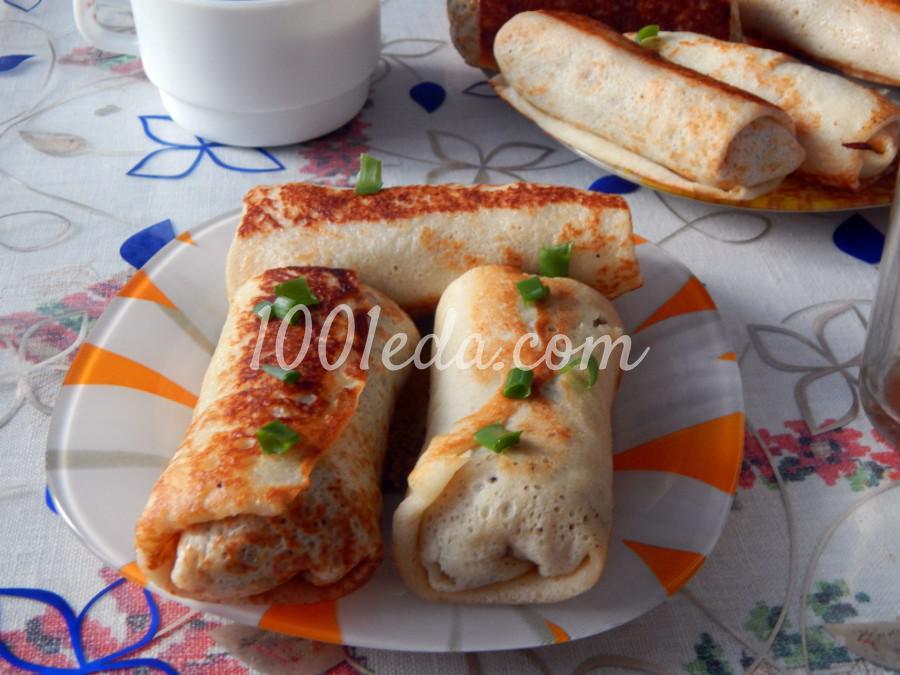 Фаршированные блины с мясом: пошаговое фото - Шаг №4