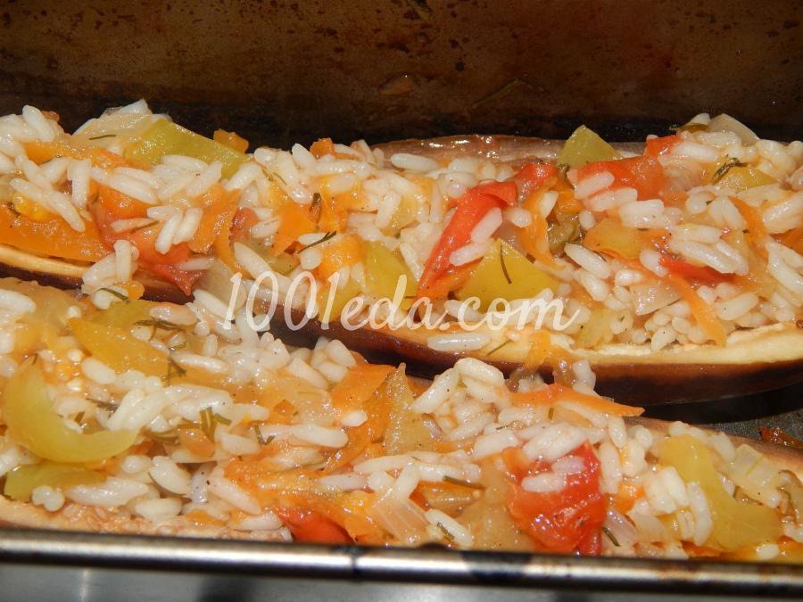 Лодочки из баклажанов с овощами в духовке с пошагово