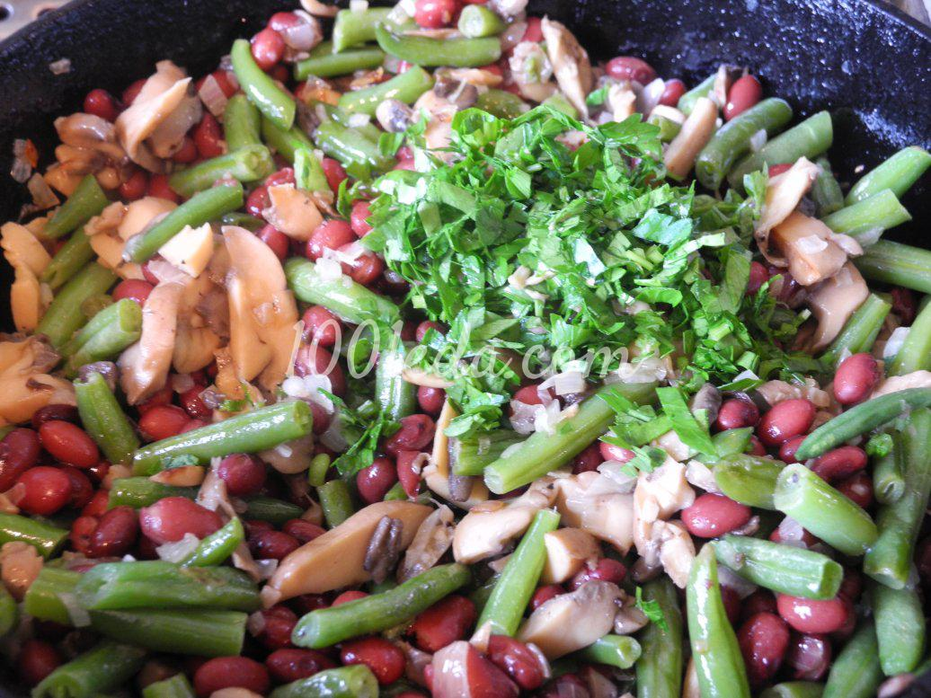 Салат грибы фасоль чеснок