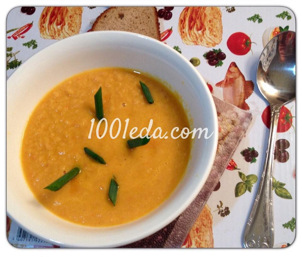 Крем-суп с копчёной красной рыбой