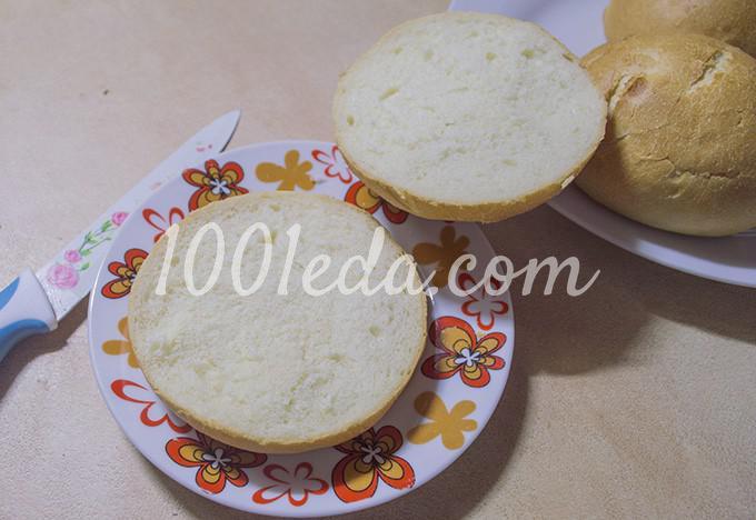 Гамбургер с котлетой по-домашнему: рецепт с пошаговым фото - Шаг №10