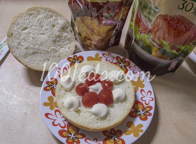 Гамбургер с котлетой по-домашнему: рецепт с пошаговым фото - Шаг №11