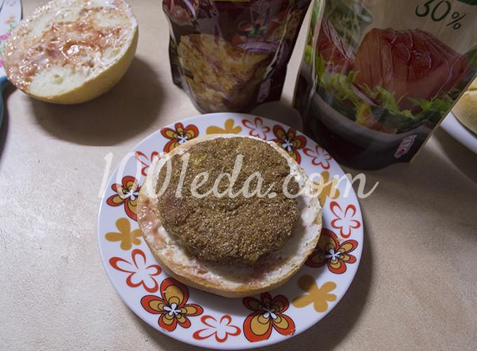 Гамбургер с котлетой по-домашнему: рецепт с пошаговым фото - Шаг №12