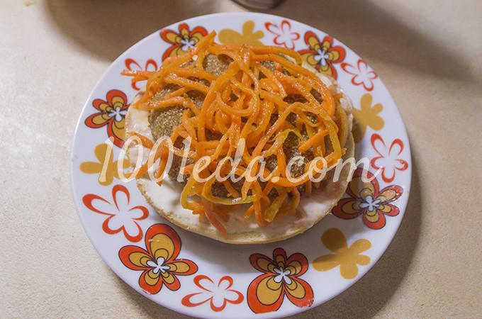 Гамбургер с котлетой по-домашнему: рецепт с пошаговым фото - Шаг №13