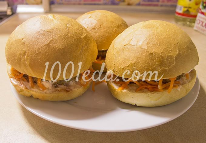 Гамбургер с котлетой по-домашнему: рецепт с пошаговым фото - Шаг №14