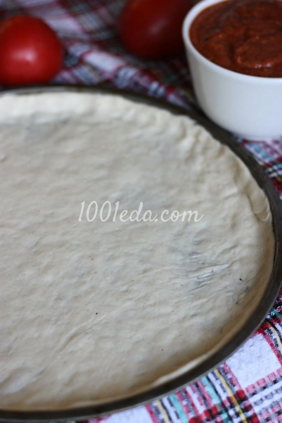 Готовим тонкое тесто и соус для пиццы: пошаговый с фото - Шаг №3