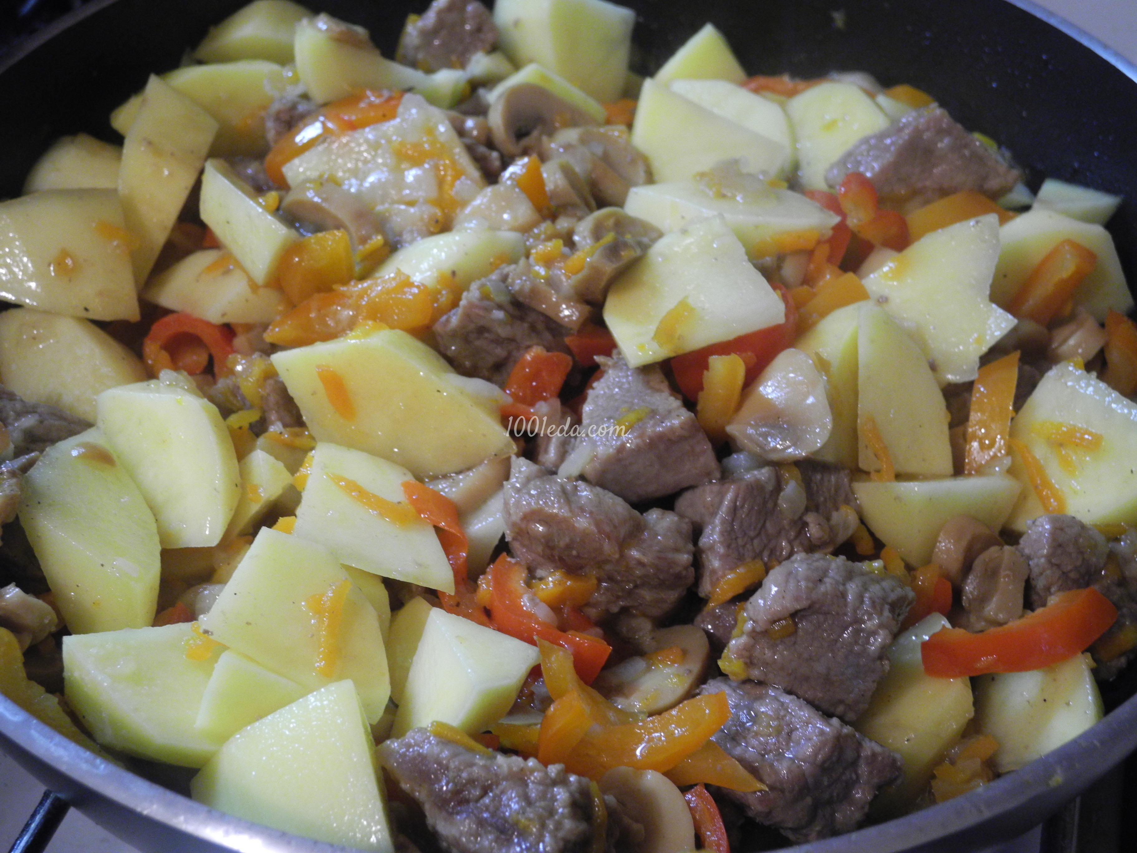 картошка и грибы в мультиварке рецепты с фото