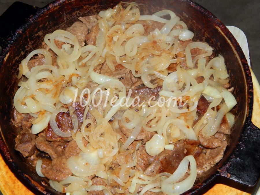 Говядина, жареная на сковороде, с луком: пошаговый с фото - Шаг №6