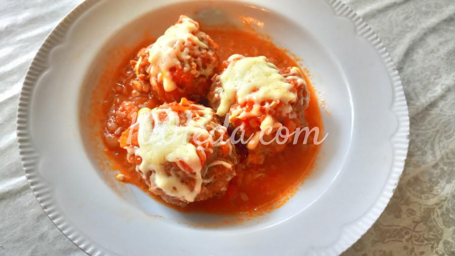 Гречаники с сыром в томатно-овощном соусе: рецепт с пошаговым фото - Шаг №11