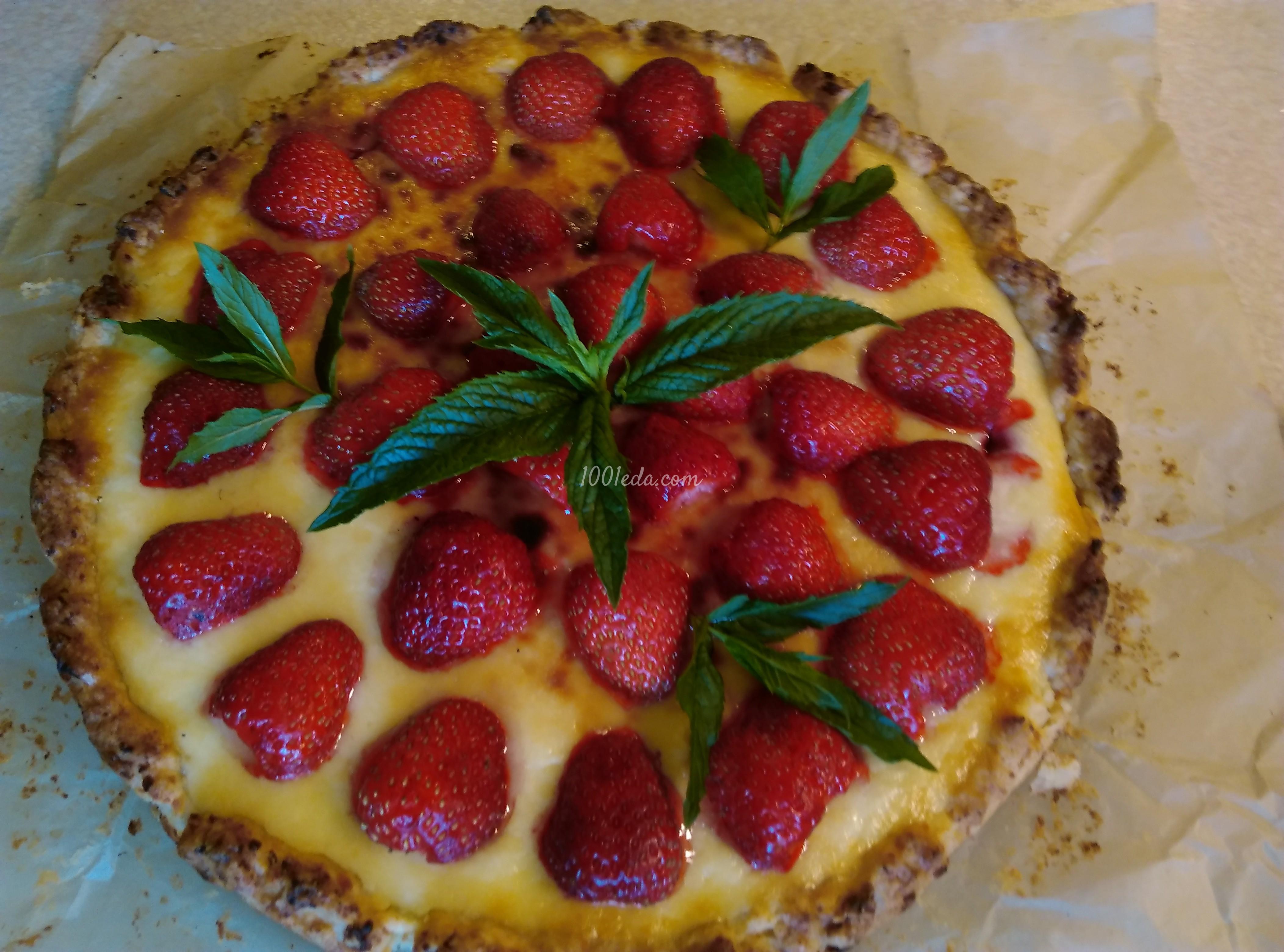 Творожный пирог с клубникой: рецепт с пошаговым фото