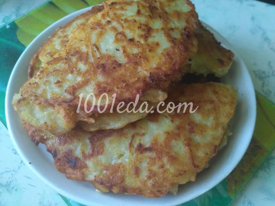 Картофельные чебуреки с куриным филе