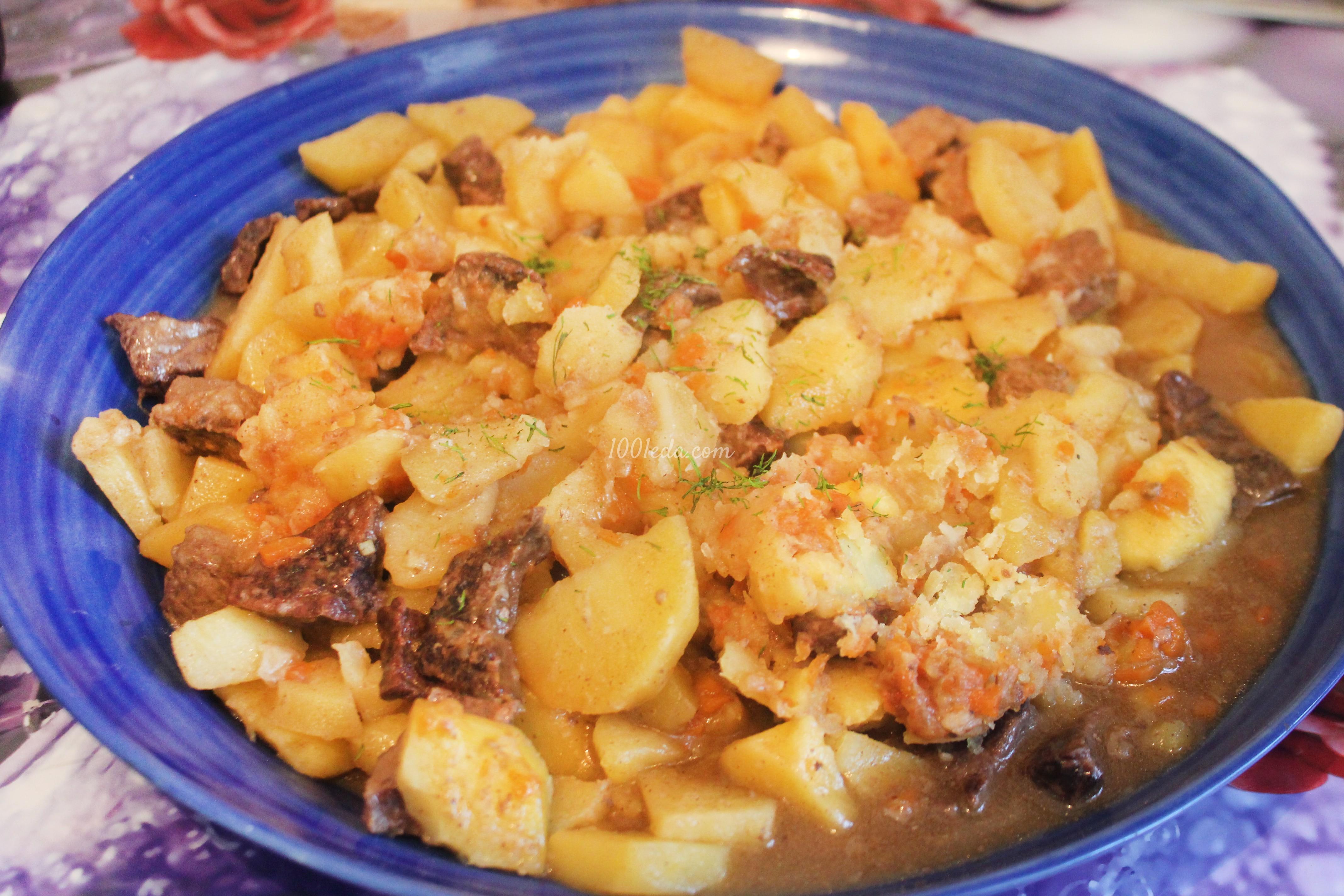Свинина запеченная с картошкой в духовке рецепт 109