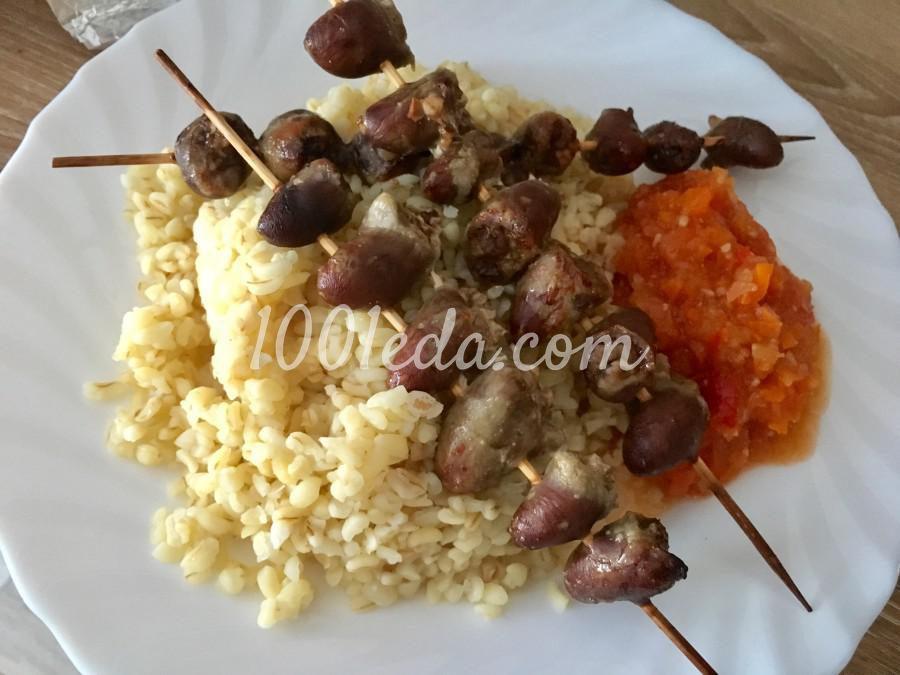шашлычки из курицы для детей в духовке на шпажках рецепт с фото