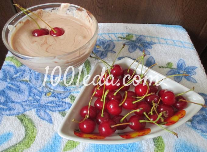 Шоколадно молочный десерт