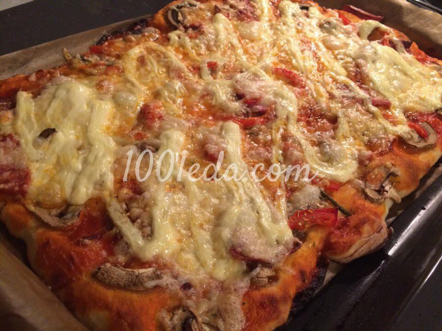 Тесто пицца пошаговый