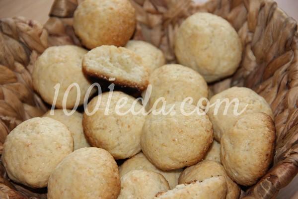 Постное кокосовое печенье: рецепт с пошаговым фото