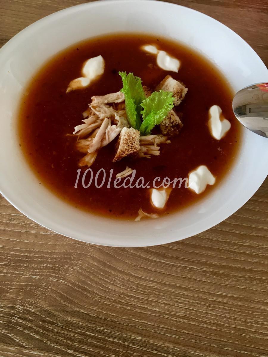 Суп-пюре а-ля борщ на курином бульоне