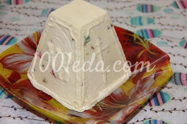Творожная пасха с заварным кремом и цукатами