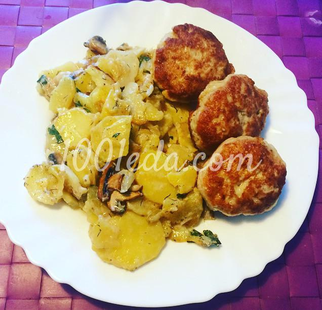 Сливочный картофель, запечёный с грибами: рецепт с пошаговым фото