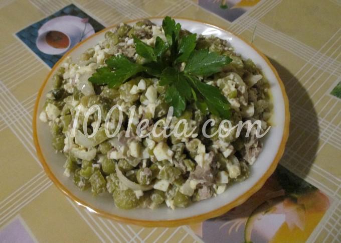 Пикантный салат из куриной печени