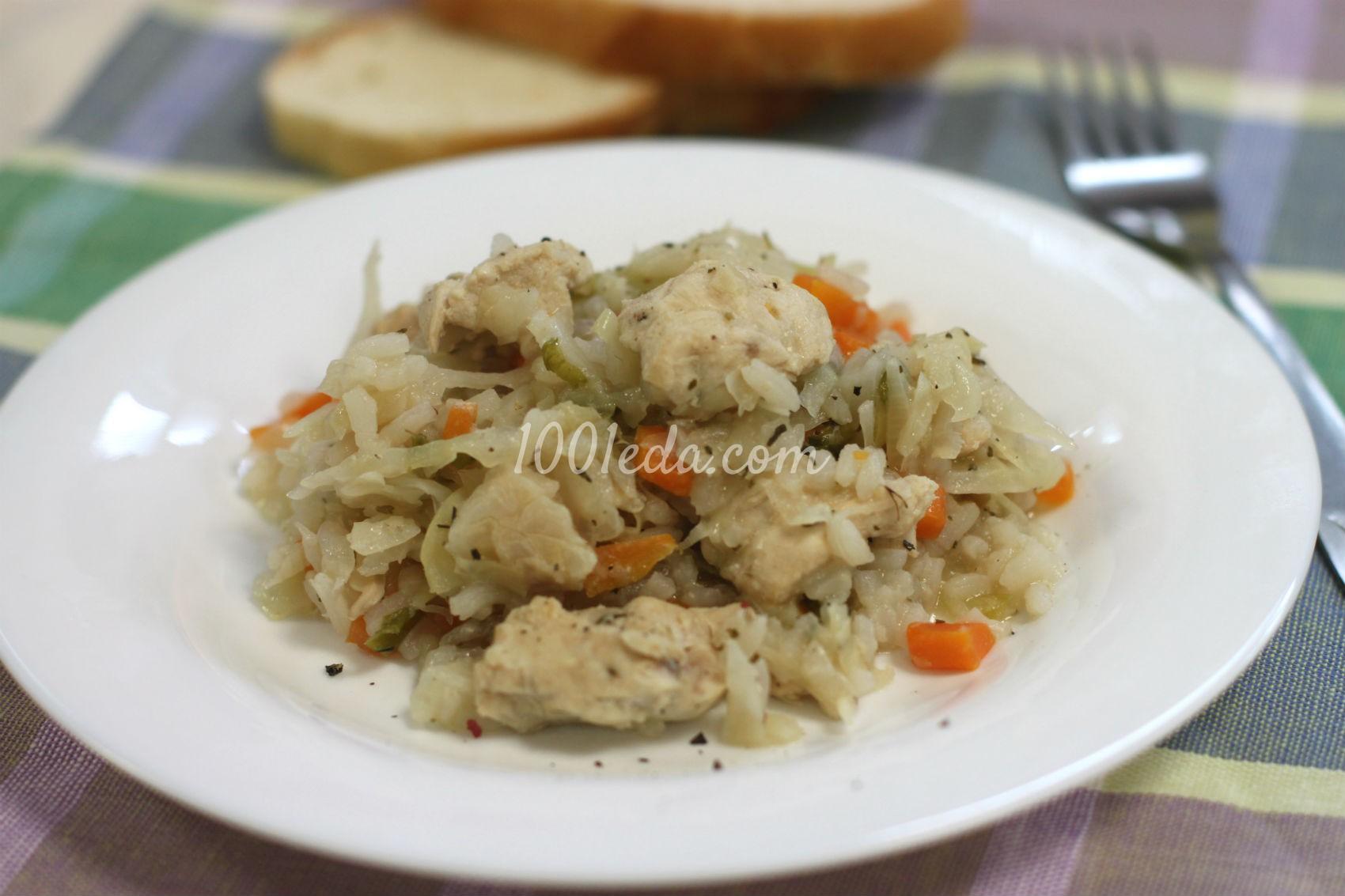Капуста тушеная с курицей рецепт с пошагово