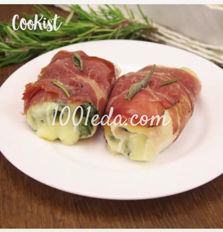 Быстрые роллы из курицы с беконом: пошагово с фото