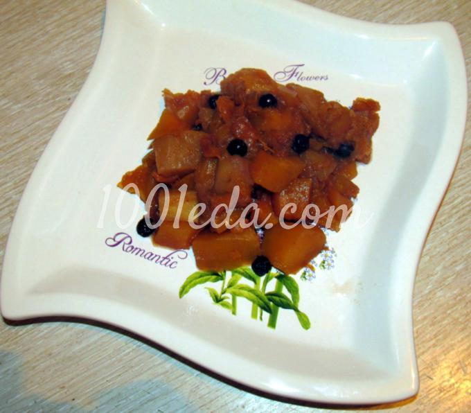 Тыква, тушеная с яблоками и аронией: рецепт с пошаговым фото