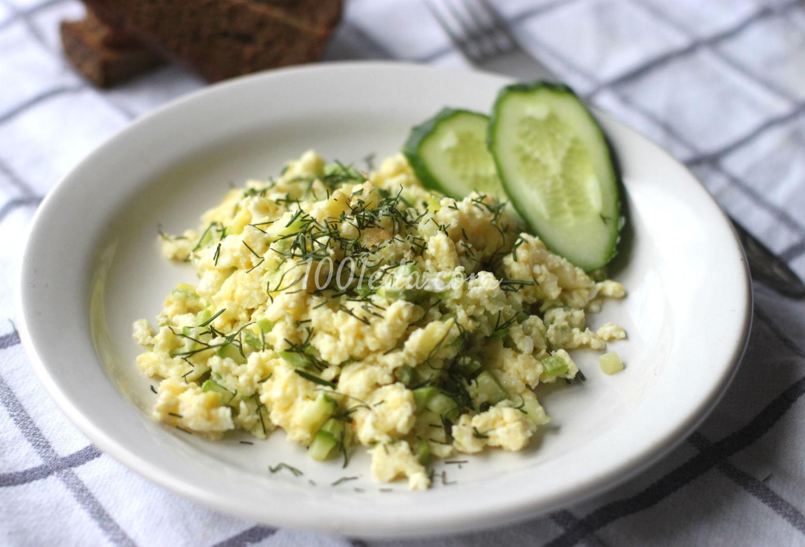 Яичница-болтунья с кабачками: рецепт с пошаговым фото