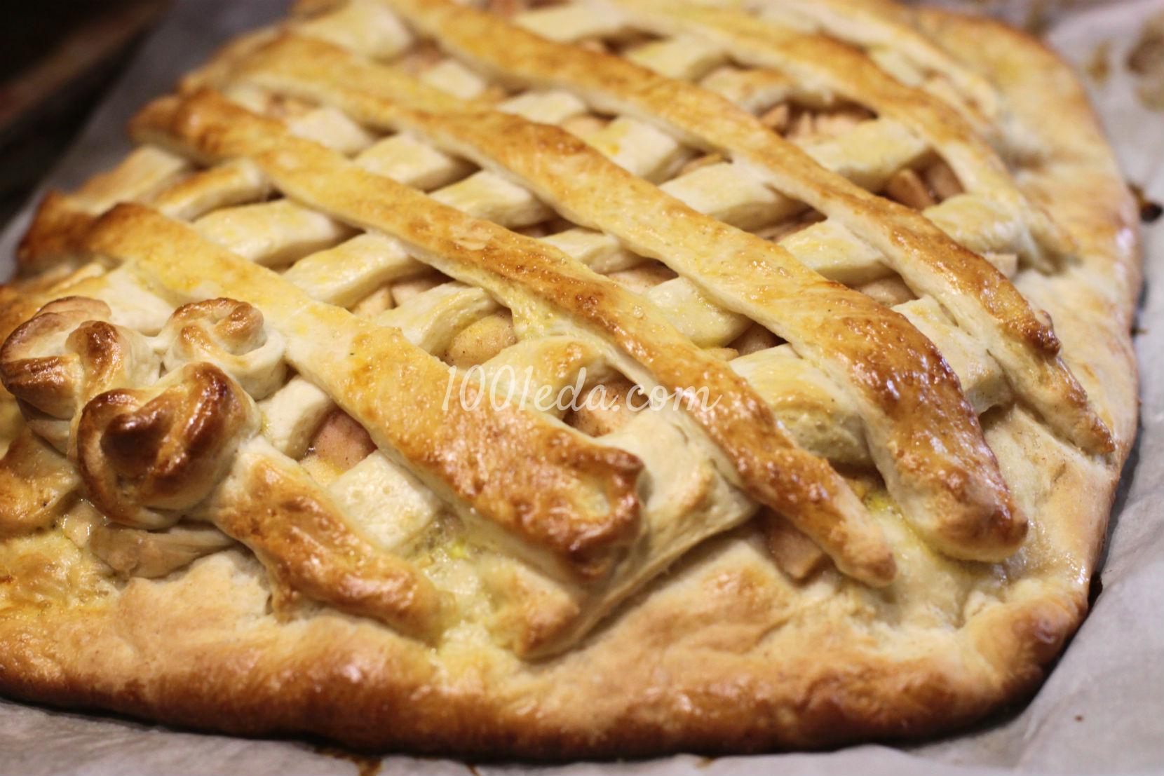 Пирог с яблоками на дрожжевом тесте рецепт пошагово