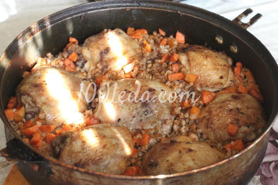 Гречневая каша с морковью и куриными бедрами в духовке: рецепт с пошаговым фото