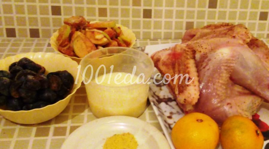Индюшата запеченные с фруктами и мандарином: пошаговый с фото - Шаг №1