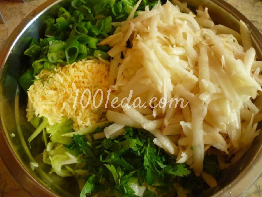 Кабачково-картофельные оладьи с сыром: пошаговый с фото - Шаг №1