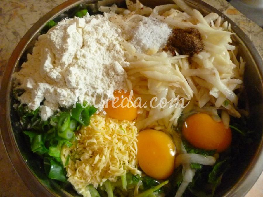 Кабачково-картофельные оладьи с сыром: пошаговый с фото - Шаг №2