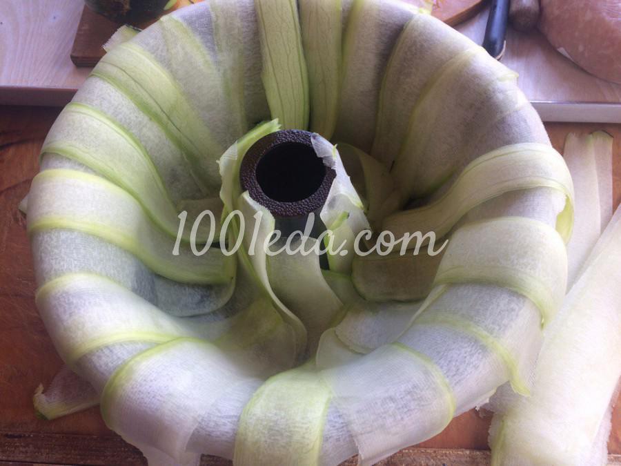 Кабачковое кольцо с фаршем и грибами: пошаговое фото - Шаг №1