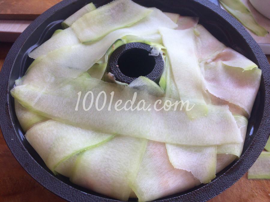 Кабачковое кольцо с фаршем и грибами: пошаговое фото - Шаг №8