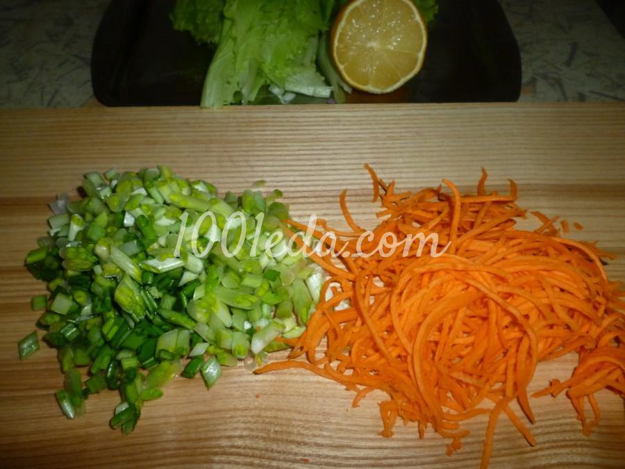 Капустный салат с черемшой: рецепт с пошаговым фото - Шаг №3